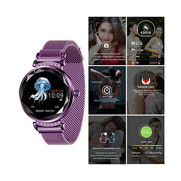 Smart Watch Heart Rate Monitor Fitness Tracker Watch Waterproof Smart Watch Bracelet for Women 4