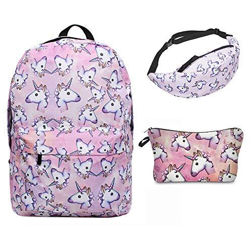 zaini scuola elementare unicorno per ragazze Giddah Fashion colorato scuola Unicorno Rosa Delle Ragazze Zaini per bambini 3pz/pack