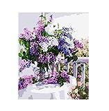 WACYDSD Puzzle 1000 Teile 3D Puzzle Flieder Blumen DIY Wand Kunst Bild Home Decor