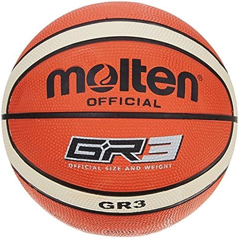 Molten BGR3 - Balón de baloncesto, color naranja, tamaño 3