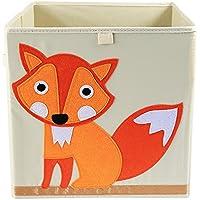 Preisvergleich für Spielzeugkiste Aufbewahrungsbox,Ballery faltbare große Spielzeugkiste 33x33x33cm(Fuchs)