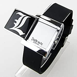 Cosplay Death Note Light Blue LED Black Watch