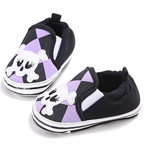 Fire Frog  Baby Loafer Shoes, Baby Jungen Lauflernschuhe Schwarz
