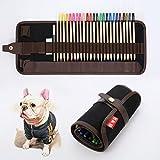 Tinpa 24 Farbstifte Buntstifte Kunstbedarf Marco Raffine Set mit Leinwand Roll-up Bleistift Tasche für zum Malen, Ausmalen, Skizzieren oder Colorieren