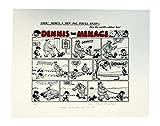 Comic Art Dennis The Menace de Bande First Ever 1951M écran sans Cadre Fait à la Main, en Coton imprimé, Rouge