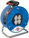 Brennenstuhl Garant Export Kabeltrommel (50m - Spezialkunststoff, Einsatz im Innenbereich, Made In Germany) blau