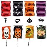 Chuhe Faltbare Hängelaternen aus Papier, Halloween-Dekoration, gruselige Ornamente