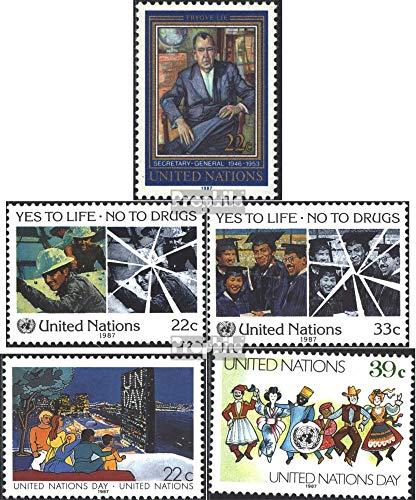 Prophila Collection UNO - New York 519,522-523,540-541 (kompl.Ausg.) 1987 Lie, Drogenmissbrauch u.a. (Briefmarken für Sammler)