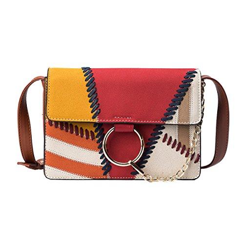 Fabelhaft Neue Kette Kleine Quadratische Tasche Mode Hit Farbe Schulter Messenger Bag CrossSection