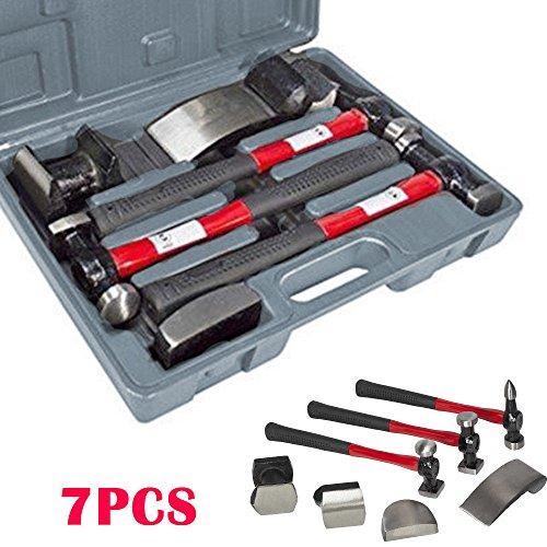 Preisvergleich Produktbild HAUSSER Premium Qualität Hammer 7pc Auto Panel Repair Tool Kit mit Fiberglas Griffe Schlagen UK