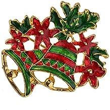 Broche Pin Campana Flor Decoración Regalo Para Navidad Fiesta Colorido