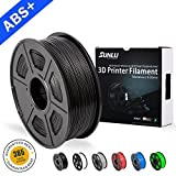 SUNLU ABS Plus 3D Printer Filament, ABS Filament 1.75 mm, 3D Printing filament Low Odor Dimensional Accuracy +/- 0.02 mm, 2.2 LBS (1KG) Spool 3D Filament, Black ABS+