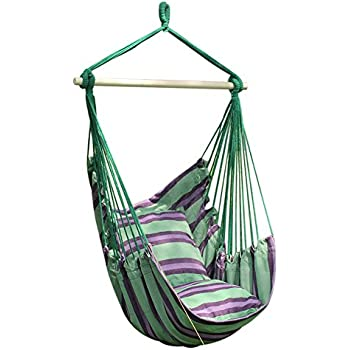 Schaukel Für Drinnen amazon de anpi hängematte stuhl seil hängen schaukel garten