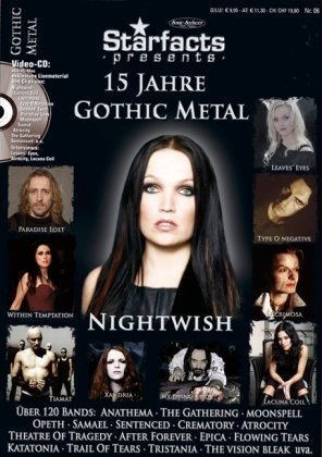 Starfacts presents: 15 Jahre Gothic Metal + Video-CD, Bands: Nightwish, Tiamat, Paradise Lost, Within Temptation u. v. m.