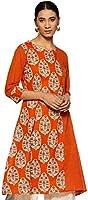 Amazon Brand - Myx Women's A-Line Kurta (AW18BLSS17A_Orange_XXL)