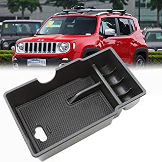 LITTOU Car Center Console Armlehne Box Glove Box Sekundärspeicher für Renegade 2015 2016 2017