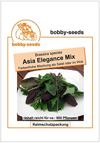 Bobby-Seeds Salatsamen Asia Elegance Mix Baby Leaf Portion