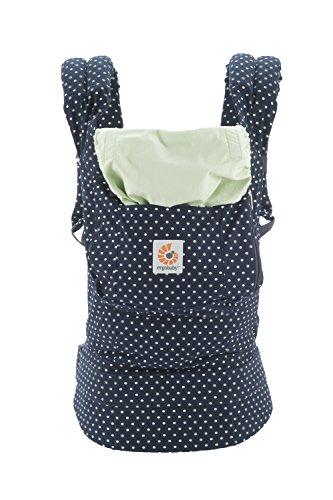 Ergobaby Babytrage Kollektion Original (5,5 – 20 kg), Indigo Mint Dots