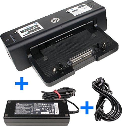 Hewlett Packard Maus Tastatur (HP Profi Dockingstation HSTNN-I11X für ProBook 6460b, 6465b mit Original HP 120W Netzteil und Stromkabel)