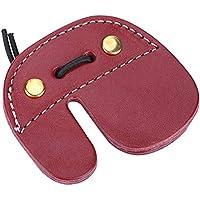Tbest Protector de Dedo de Arco,Protecciones de Dedos de Tiro con Arco Cuero Guardia de Dedo de Tiro con Arco para Caza Tiro con Arco de Arco Recurvo de Flecha Accesorio de Protección