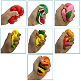 PayFly Squishies Jumbo - Jumbo Squishies Slow Rising and Scented Fruit Squishy Kawaii Stress Relief Toys Squeeze Soft Toys for Kids Children Adults 7Pcs Bild 2