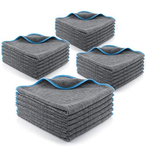 Licargo Lackschonende Mikrofasertücher mit 380 GSM - extrem saugstark und schonend weich - fusselfreie Poliertücher für die Pflege von Auto und Motorrad - Auto Microfasertücher - 40 x 40 cm (24)