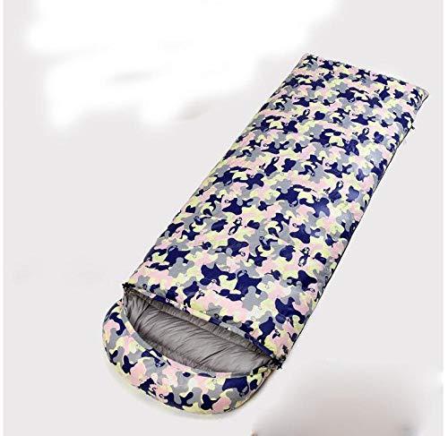 TAHRH Schlafsack kleines packmaß,Indoor Gänsedaunen, Outdoor ultraleichter Tarnschlafsack, Erwachsenenschlafsack @ SN3_1500g_White_Goose_down -