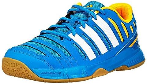adidas Court Stabil 11 xJ, Unisex-Kinder Laufschuhe, Blau (Solar Blue2 S14/Ftwr White/Solar Gold), 40