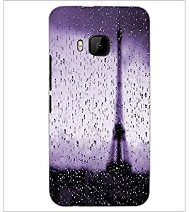 PrintDhaba Wet Tower D-2816 Back Case Cover for HTC ONE M9S (Multi-Coloured)