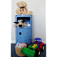 Kids Storage Drawer Hygena Unit Bedroom 3 Tier Cabinet Shelf Cylinder Toy Tower