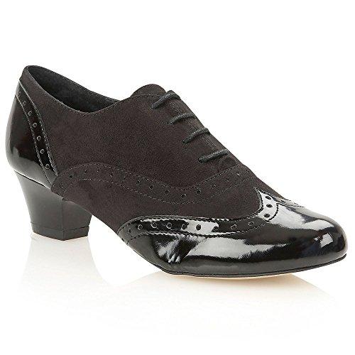 Lotus Femme Sheree Noir brillant/Lotus en microfibre Chaussures Bottes Noir - noir