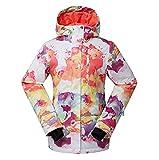 Wonny Damen Skijacke Wasserdicht Snowboard Winter Regenjacke Wolken-Design XL