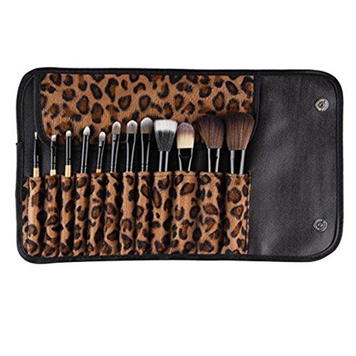 11 pcs Poignée en bois Maquillage de fard à paupières Fond de teint correcteur Brosse de
