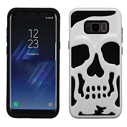 Basic-handy Verizon (MyBat Handy Fall für Samsung Galaxy S8Plus–Ivory weiß/schwarz)