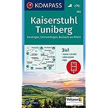 Kaiserstuhl, Tuniberg, Kenzingen, Emmendingen, Breisach am Rhein: 3in1 Wanderkarte 1:25000 mt Aktiv Guide inklusive Karte zur offline Verwendung in ... (KOMPASS-Wanderkarten, Band 883)