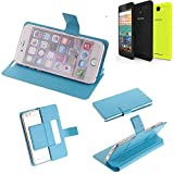 K-S-Trade Flipcover für Archos 50f Neon Schutz Hülle Schutzhülle Flip Cover Handy case Smartphone Handyhülle blau