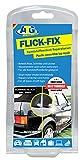 ATG Flick Fix  Kunststoff-Verdeck Teichfolien Pool Reparaturset, schwarz: Ausbesserung von Rissen, Schnitten und Löchern für Cabrio, Planen, Kunststoffabdeckungen - der Kleber lässt sich auch unter Wasser verarbeiten (z.B.Teichfolien aus Weich-PVC)
