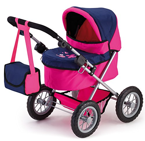Bayer Design 13013AA Trendy - Cochecito de muñeca, color rosa y azul