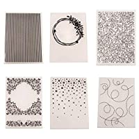 Unique WElinks 6 Styles Plastic Embossing Folders Transparent Template Photo Album Decoration Making Scrapbooking Craft Card DIY hand Stamps