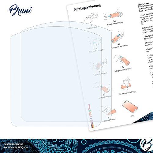 Bruni-Pellicola-Protettiva-per-SJCAM-QUMOX-M20-Pellicola-Proteggi-2-x-cristallino-Protezione-Pellicola-dello-Schermo