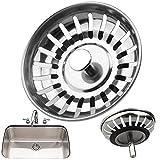 Kitchen Sink Strainer 78MM Premium Stainless Steel Waste Plug Replacement Drain Bath Basin Shower Bathroom Basket Filter Cover Trap Cap Hair Stopper