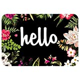 YISUMEI Fu?Matte Hallo Blumen Eingangsmatte Bodenmatte Teppich Innen/Au?en/Haust¨¹r/Badezimmer Matten Rutschfest(40x60 cm)