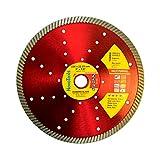 NOVOTOOLS Profesional Disco de Diamante 230 x 22,2 mm Universal Radial Discos de corte de diamante dara cuchillas de amoladora angular de diamante para granito, marmol, piedra, ladrillos, hormigón