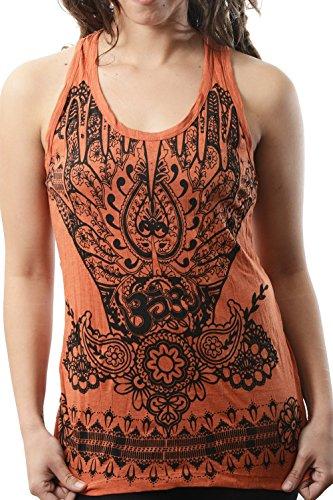 T-Shirt/OM Top - cotone - vari colori - taglia unica - Canotta Arancione