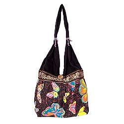 Womaniya Women's Handbag Black (Woman-378)