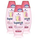 x3 Schwarzkopf Super Soft Girls Kids Childrens Shampoo & Conditioner 250ml