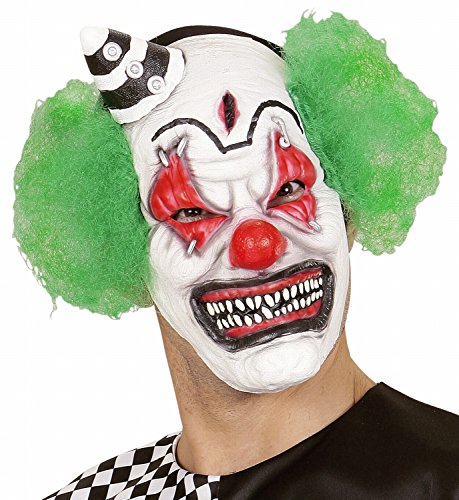 e Killer Clown mit Haar und Mini Hut ()