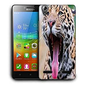 Snoogg Leopard Printed Protective Phone Back Case Cover For Lenovo A6000