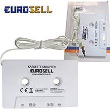 Eurosell–Adaptador láser láser adaptador láser adaptador blanco para coche radio Radio de coche clavija de 3,5mm Smartphone iPhone Tablet MP3iPod iPhone 34566S Plus 788S X iPad