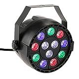 Lixada 15W DMX-512 RGB LED Disco Beleuchtung Strobe Lampen 8 Kanal AC 90-240V